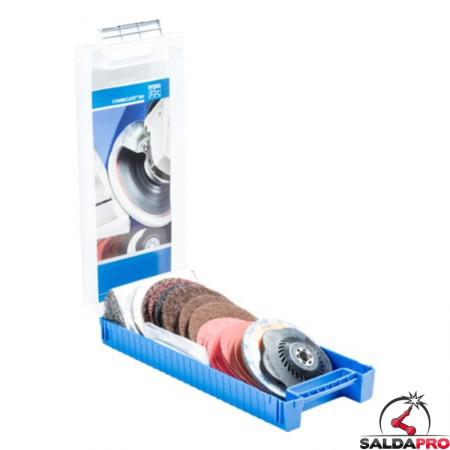 Set COMBICLICK® CC-SET 125 5/8-11 per finitura e lucidatura