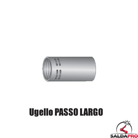 Ugello gas PASSO LARGO Ø 13-16-19 mm per torcia TW (10pz)