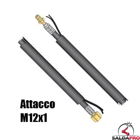 Pacco cavi 4-8 metri attacco M12x1 per torce Serie WP saldatura TIG