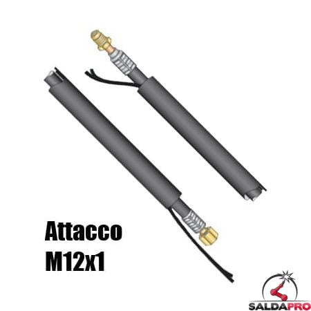 Pacco cavi attacco M12x1 per torcia WP-26 saldatura TIG