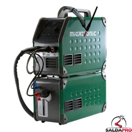Saldatrice PI 250 TIG DC HP - AC/DC con raffreddamento ad acqua Migatronic