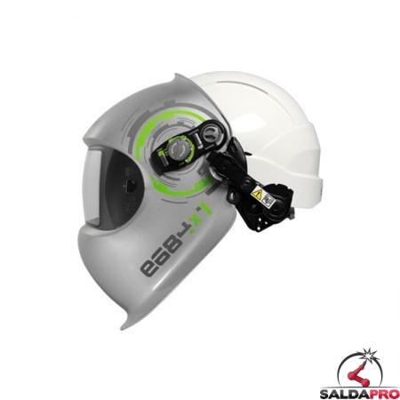 Maschera da saldatura e684 DIN 5-13 con casco Centurion Optrel