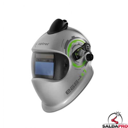 Maschera da saldatura Optrel e684 DIN 5-13 predisposizione PAPR e3000