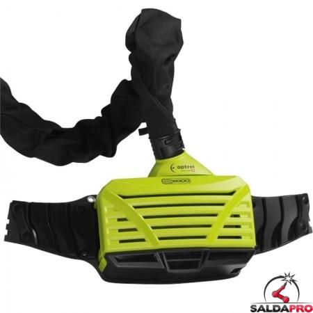 Respiratore PAPR e3000 green/blue Optrel senza maschera