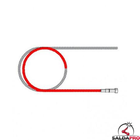 guaina guidafilo rossa rinforzata diametro 1,0-1,2 ricambio torce tw saldatura mig