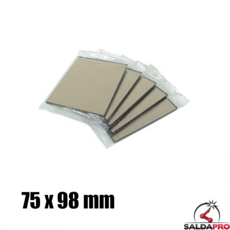Vetro a specchio 75x98 DIN 9-13 per maschera saldatura (10pz)