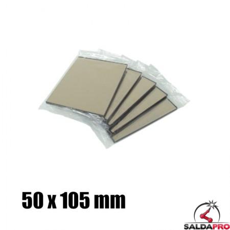 Vetro a specchio 50x105 DIN 9-13 per maschera saldatura (10pz)