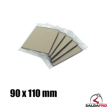 Vetro a specchio 90x110 DIN 9-13 per maschera saldatura (10pz)