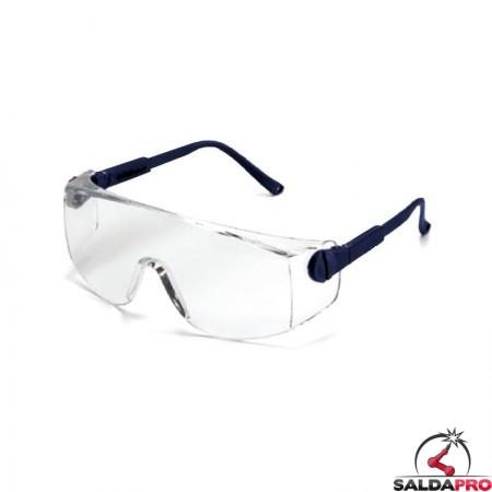 Occhiali protettivi Dual in policarbonato per saldatura (10pz)