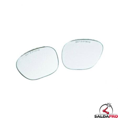 Lenti sagomate trasparenti per occhiali protettivi (10pz)