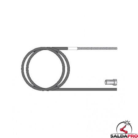 Guaina guidafilo Alluminio 2,5x4,7 per torce BZ - Tynos - TW