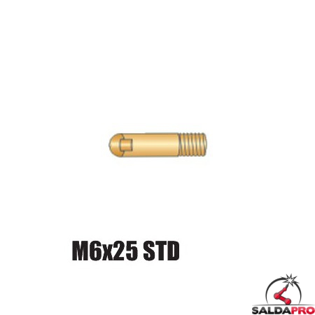 Punta serie M6x25 STD per torcia BZ 15 - Ø 0,6 - 1,2 (10pz)