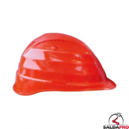 elmetto protettivo C3 polietilene 6 punti appoggio rosso per saldatura e cantieri