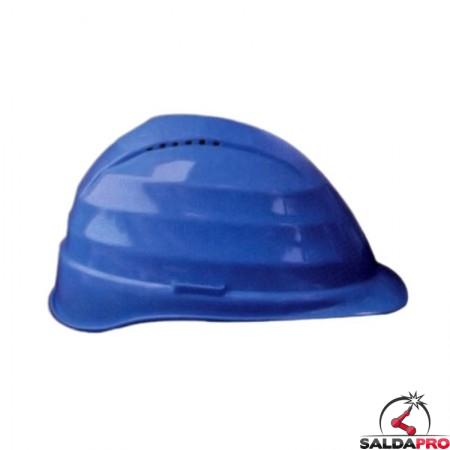elmetto protettivo C4 polietilene 4 punti appoggio blu per saldatura e cantieri