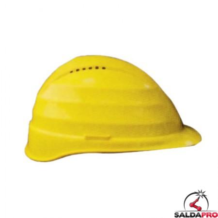 elmetto protettivo da cantiere C4A abs 4 punti appoggio giallo saldatura