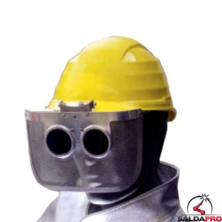 visore rinforzato con lenti scure accessorio elmetti t6