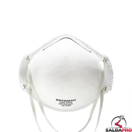 mascherina a guscio monouso semplice bianca protezione vie respiratorie