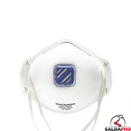 mascherina a guscio monouso valvola filtro ffp2 ffp3 bianca protezione vie respiratorie