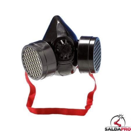 maschera antigas doppio filtro modello 7320