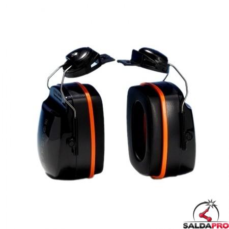 cuffia antirumore 26db montatura per elmetti protezione udito