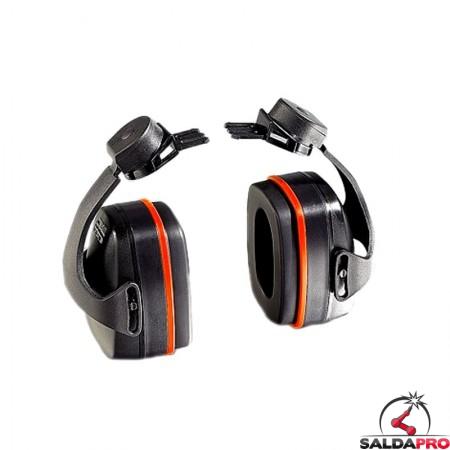cuffia antirumore 29db montatura per elmetti protezione udito