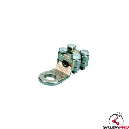capicorda a 4 viti 50-120 mmq occhiello 10-15 mm serraggio cavi