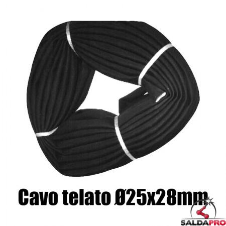 cavo gomma telata diametro 25x28 mm saldatura copertura