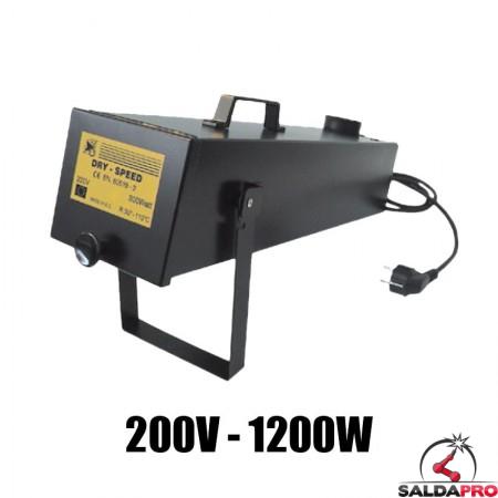 fornetto portatile asciuga elettrodi 220v 1200w preparazione saldatura