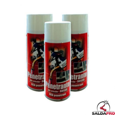 penetrante rosso spray bomboletta 400ml chicche difetti saldatura