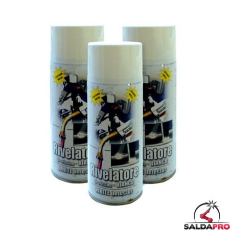 rilevatore bianco spray bomboletta 400ml chicche difetti saldatura