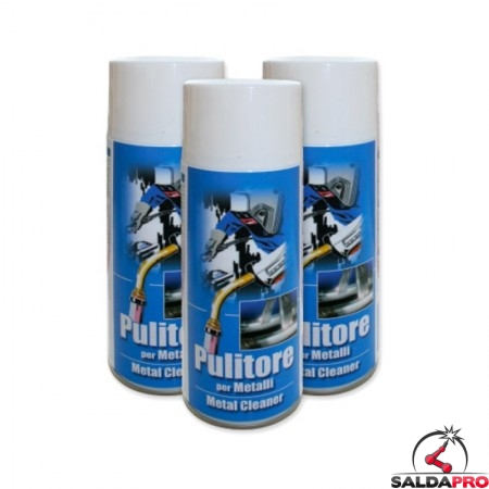 pulitore spray 400ml detergente per metalli pulitura saldatura 10 pezzi