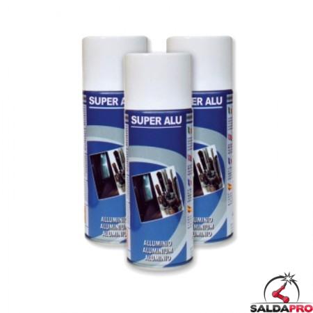 alluminio spray 400ml vernice acrilica super alu 10 pezzi
