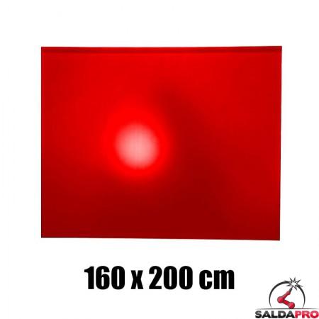 tenda rossa protezione 160x200 cm grado protezione DIN 4 saldatura
