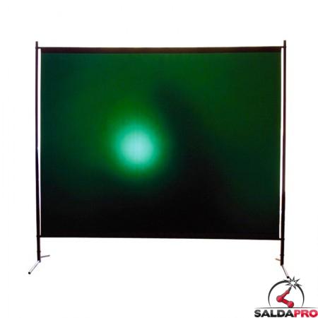 pannello protettivo 190x200 cm tenda verde grado protezione DIN 9 saldatura