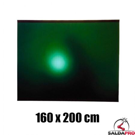 tenda verde protezione 160x200 cm grado protezione DIN 9 saldatura