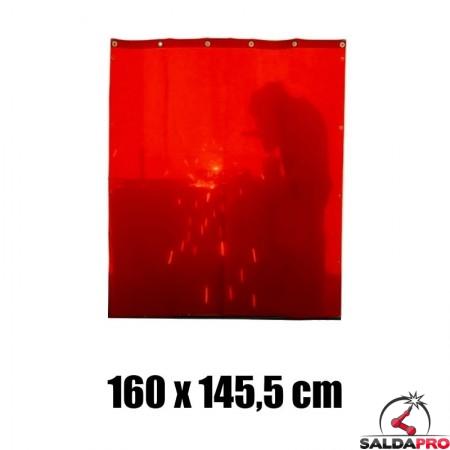 tenda rossa protezione 160x145,5 cm grado protezione DIN 4 saldatura