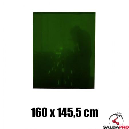 tenda verde protezione 160x145,5 cm grado protezione DIN 9 saldatura