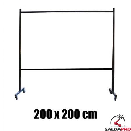 struttura metallo ricambio pannello protettivo 200x200 saldatura