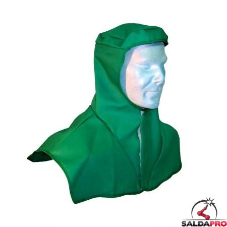 cuffia protettiva cap-68 in cotone ignifugo per saldatura protezione testa collo spalle