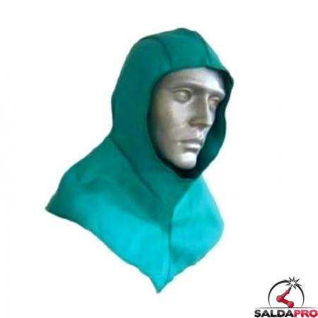 cuffia protettiva cap-69 in cotone ignifugo per saldatura protezione testa collo spalle