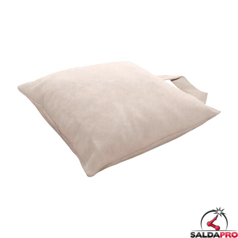 cuscino pelle crosta 40x40cm saldatura saldatori