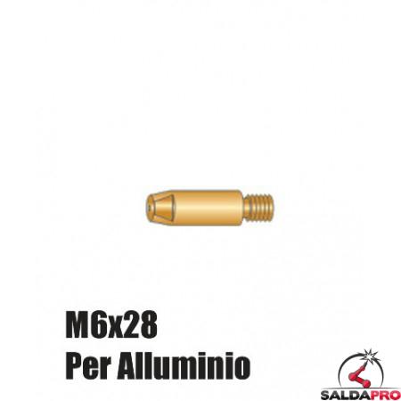 Punte serie M6x28 per alluminio torce BZ - Ø 0,8 - 1,6 (10pz)