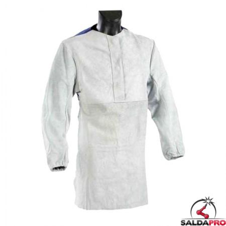 giacca grembiule protettivo pelle crosta rinforzato jak-150 per saldatore