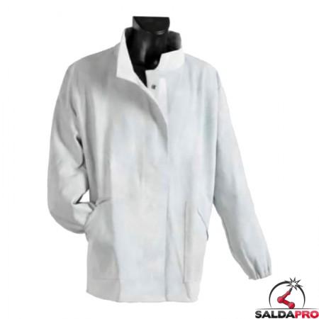 giacca protettiva pelle crosta bovina jak-154 cuciture kevlar per saldatore