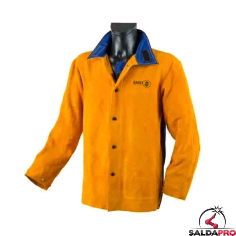 brand new da521 f2491 Giacca protettiva in pelle crosta gialla JAK-160 per saldatore
