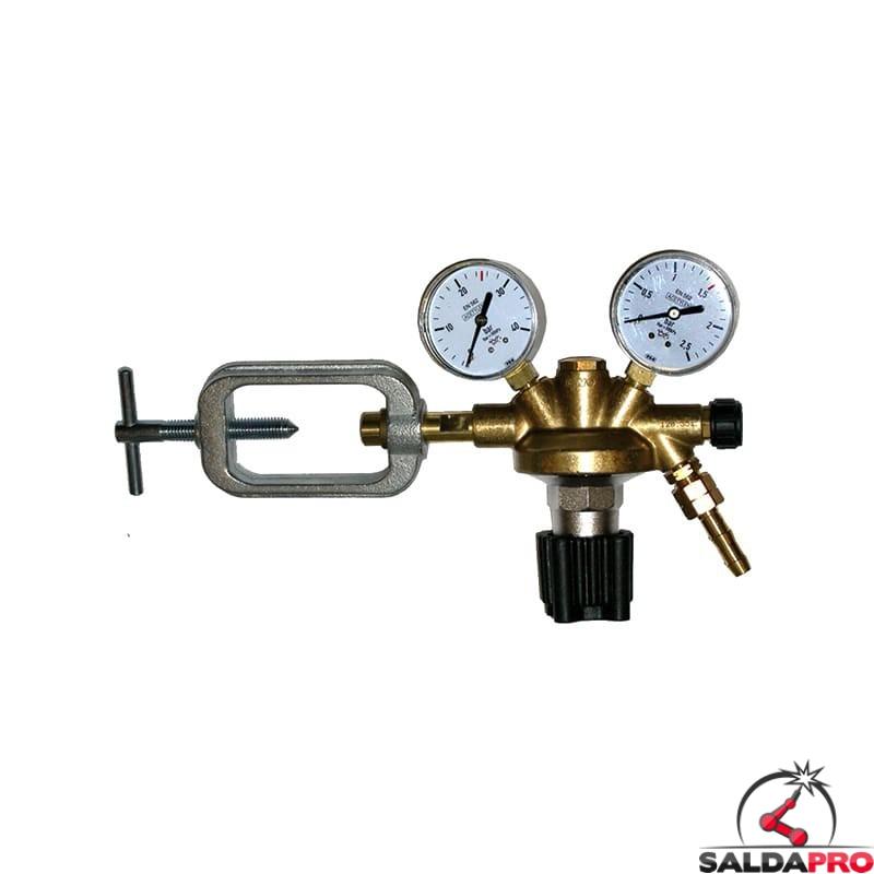 riduttore pressione acetilene ottone 40atm 2,5 atm