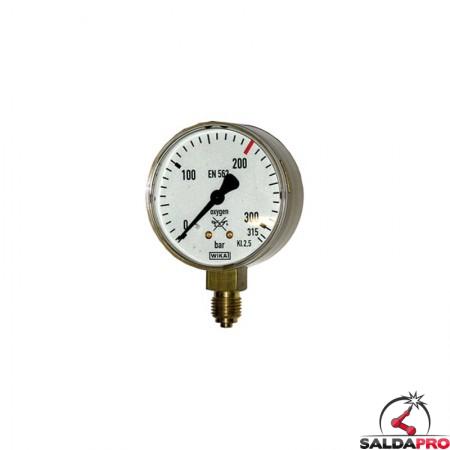 manometro misuratore  pressione ossigeno 310/315 atm saldatura ossiacetilenica