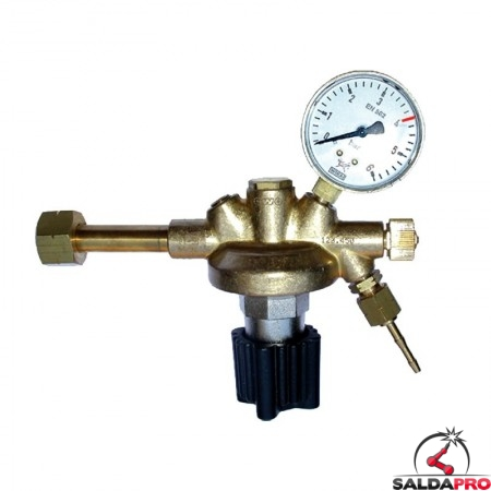 riduttore pressione gas liquefatti propano butano 6 atm 3,5 atm ottone saldatura ossiacetilenica