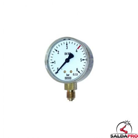 manometro misuratore pressione gas liquefatti propano butano 6 atm saldatura ossiacetilenica