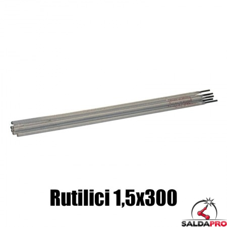 elettrodi rutilici 1,5x300mm saldatura 290 pezzi rivestimento rutile